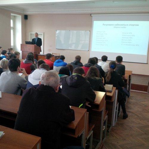 В НУФВСУ перший зам міністра молоді та спорту І.Є. Гоцул прочитав лекцію «Структура управління легкоатлетичним спортом на сучасному етапі»