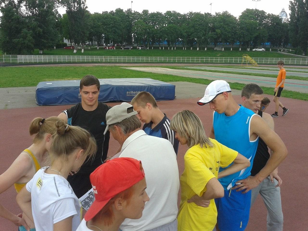 Кафедра легкої атлетики, зимових видів та велосипедного спорту на тренуванні
